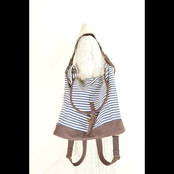 Steve Madden Handbags - Steve Madden Girl bag backpack canvas blue white s